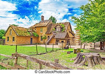 Landscape of hamlet Queen Marie Antoinette's estate near...