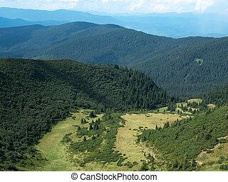 Landscape of hillsides, west Ukraine. Carpathians mountains...