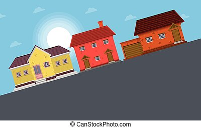 Landscape of house at morning