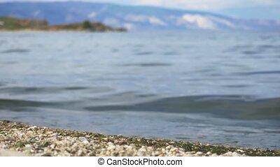 Landscape of Khankhoy lake in the Olkhon island. 3840x2160,...