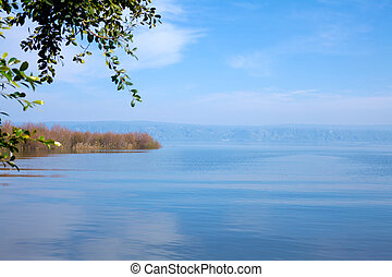 Landscape of Kinneret Lake - Galilee Sea, Israel