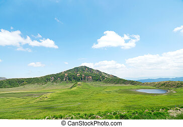 landscape of  Kusasenri, Aso area in Japan
