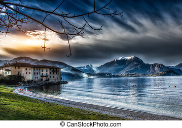 Landscape of Lake Como Italy