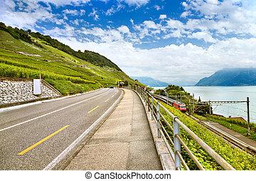 Landscape of Lake Geneva