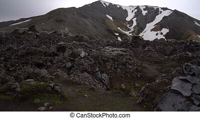 Landscape of Landmannalaugar Iceland Highland - Landscape of...