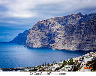 Landscape of Los Gigantes resort city, Tenerife, Canary Islands, Spain