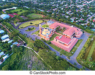 Landscape of Managua town