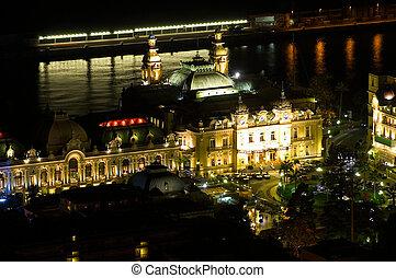 Landscape of Monaco of Night - Landscape of Monaco of night