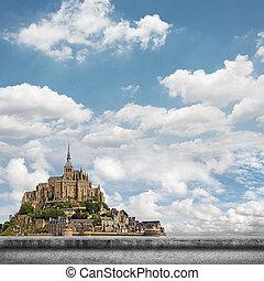 Mont Saint-Michel - Landscape of Mont Saint-Michel, the...