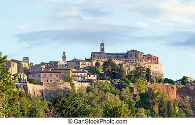 Montepulciano - Landscape of Montepulciano, a small town in ...