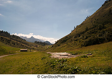 Landscape of mountain alps