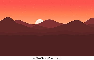 Landscape of mountain background vector