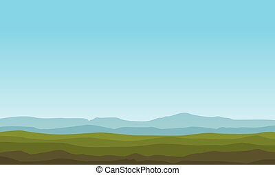 Landscape of mountain backgrounds vector