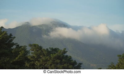 Landscape of mountains and sky. Camiguin island.