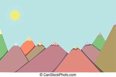landscape of mountains on a sunny afternoon