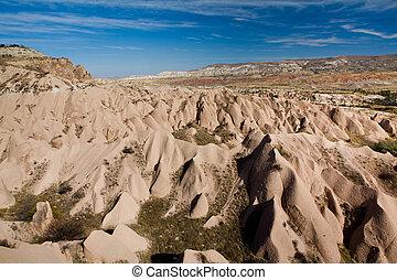 landscape of natural rock forms Cappadocia,