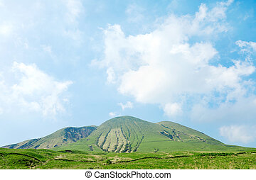landscape of  Ojodake mountain, Aso area in Japan