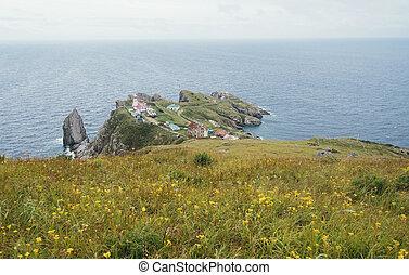 Landscape of peninsula in summer