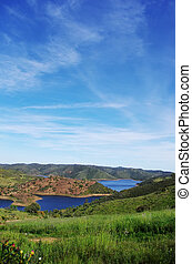 Landscape of Pomarao barrage, Portugal