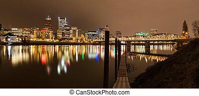 Landscape of Portland, Oregon, USA