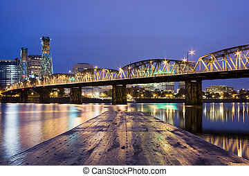 Landscape of Portland, Oregon, USA. - View of Portland,...
