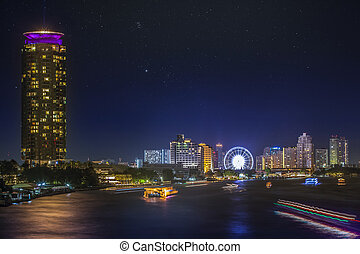 River in Bangkok city