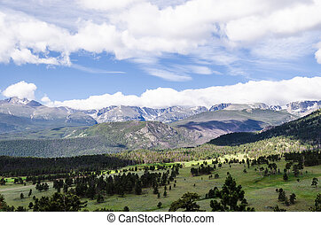 landscape of rocky mountains