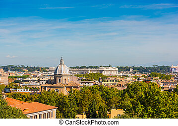 Landscape of Rome seen from the Janiculum, Italy