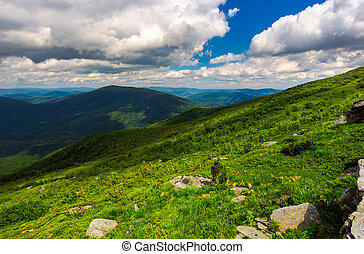 landscape of Runa mountain with boulders on hills. gorgeous...