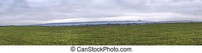 landscape of rural fields in winter