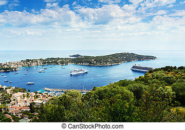 Landscape of Saint Jean Cap Ferrat in France