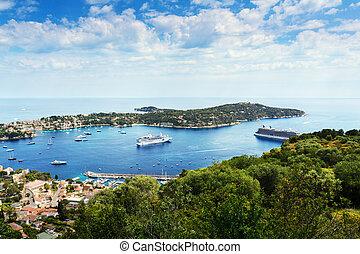 Landscape of Saint Jean Cap Ferrat in France