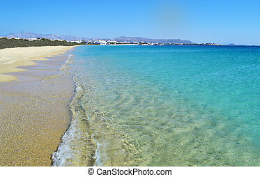 landscape of Saint Prokopios beach Naxos Greece - landscape...