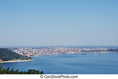 landscape of Setubal, city in south of Portugal