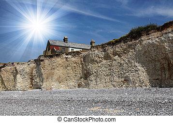 Landscape of Seven Sisters cliffs i