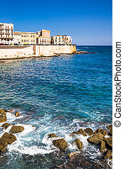 Siracusa - landscape of Siracusa village, sicily. Italy.