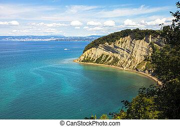 Landscape of Slovenian coast