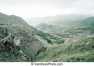 Landscape of summer mountain valley.
