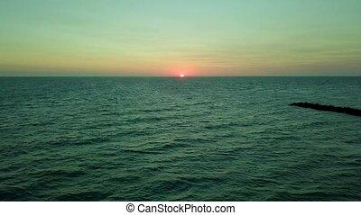 Landscape of sunrise in ocean