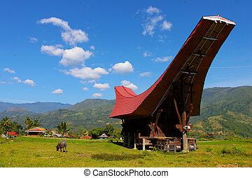 Landscape of Tana Toraja region, Sulawesi, Indonesia