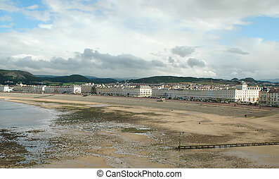 british seaside town - landscape of the british seaside town...