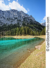 Landscape of the Green lake next to Tragoess in Styria (...