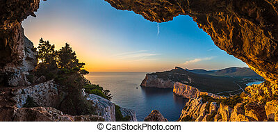 Landscape of the gulf of capo caccia