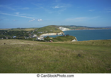 Landscape of the Isle of Wight - Rural landscape and cliffs...