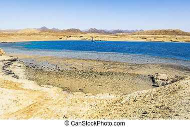 Landscape of the National Park of Ras Mohammed in Egypt, Red sea