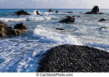 Landscape of the sea coast