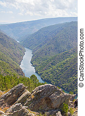 landscape of the sil canyon from the viewpoint do duque, ...
