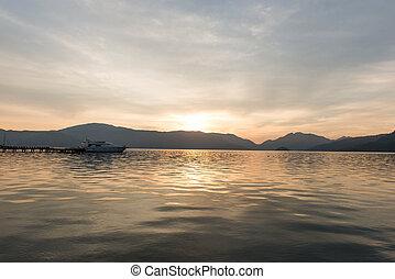 Landscape of the sunrise