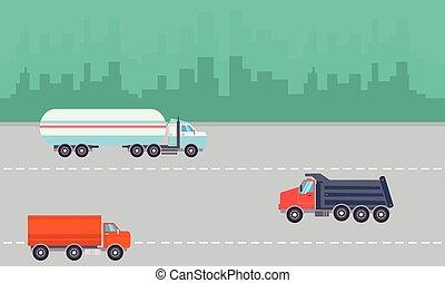 Landscape of transportation on the road