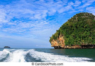 landscape of tropical island Thailand